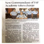 Air Marshal J.Chalapathi, from 1978 batch is posted as the Commandant at Air Force Academy, Dundigal.