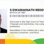 Dwarakanath Reddy as Senior Counsel in High Court of Telangana.
